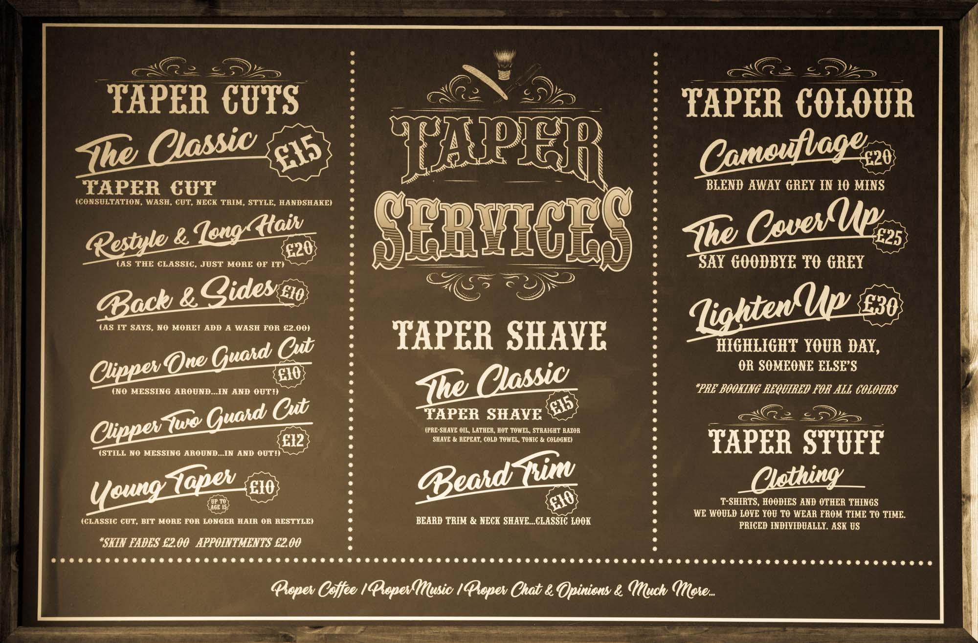 taper gentlemans barber